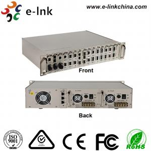 China Centralized Manageable Ethernet Fiber Media Converter , 16 Slots Fiber Optic Media Converter on sale