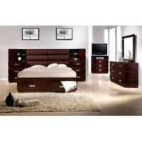 China Popular king size bed red and black on sale