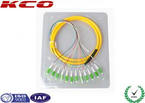 China LC Optical Fiber Pigtail / Optical Fiber Fanout Pigtail Fiber Optic Connectors 8core 12core 24core on sale