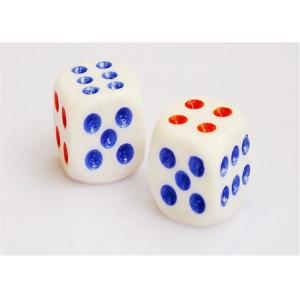 China White Plastic Cheating Dice With Mercury For Dice Games , Casino Grade Dice on sale