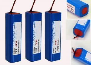 China Long Life Lithium Ion Robot Battery Pack For Robot Vacuum Cleaner , 14.4V 5200mAh on sale