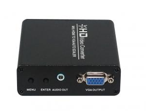 China MHL / HDMI To VGA Converter Scaler Multiple Output Resolution Set In OSD Menu on sale