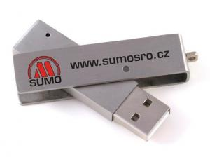 China Silver Metallic Mini USB Flash Drive Swivel 1GB 2GB 4GB 8GB 16GB on sale