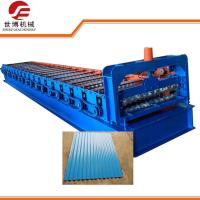 China 5.5kw Corrugated Sheet Roll Forming Machine Water Waves Type Galvanized Iron Corrugated Roofing Tile Making Equipment on sale