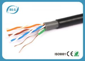China Double Jacketed Cat5e Network Cable UTP 4 Pairs Full Copper UV Resistant on sale