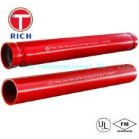 Hot Dipped Welding Steel Tubing ASTM A795 / Welded Fire Protection Pipes Zinc - Coated