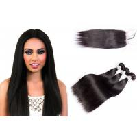 Comfortable Silky Straight Human Hair Weave With Lace Closure 10-30 Inch