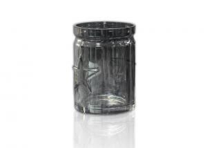 China 10OZ Straight Glass Candle Jars For Home Decoration Ebossed Candle Glass Jars on sale