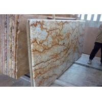 China Tropic Gold Brazilian Granite Island Top / Granite Kitchen Worktops 37 Eased Edges on sale