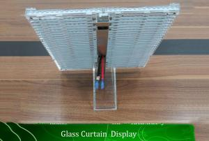 China P15.6 Indoor Transparent Led Display Screen And Led Wall Clock For Shop Mall on sale