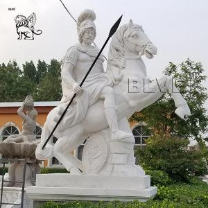 China marble greek warrior sculpture life size stone carved garden statue on sale
