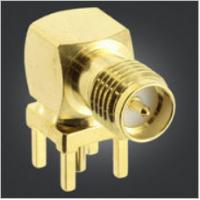 China Durable SMA RF Connector Reverse Polarity SMA Male Right Angle Jack For PCB Mount on sale