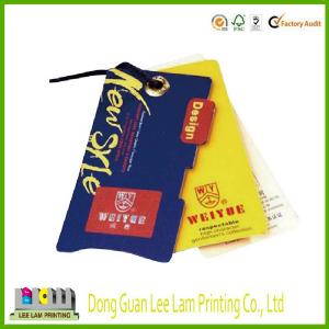 China custom garment tags with barcode with white card print on sale