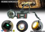 28000lux Superbright LED Two Charging Way IP68 Miners Cap Lamp with Warning Lights