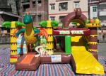 Dinosaur Park Inflatable Bounce Slide Combo Jumping Castle With Slide For Inflatable Games
