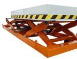 1.2m Industrial Stationary Scissor Lift Hydraulic Lifting Platform 3000Kg Loading Capacity for Work Shop