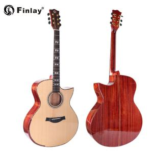 China Finlay 41 Inch Spruce Top High Grade All Solid Mahogany Guitar For Wholesale on sale