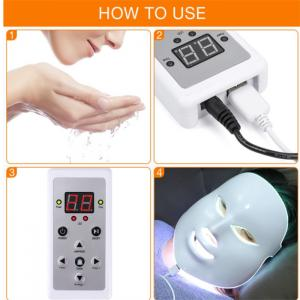 China LED Mask Beauty Device Rechargeable 7 Colors Led Mask With Neck Skin Care Wrinkle Acne Removal Skin Rejuvenation Face Ca on sale
