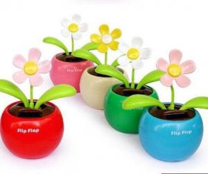 China car toys Creative Solar Power Dancing Flower Flip flap Swing Flower for Car/home gift on sale