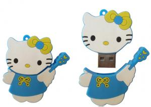 China Fun Fast Cute Cat Gifts Cartoon USB Flash Drive 2GB With USB-HDD Or USB-ZIP Mode on sale