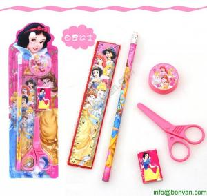 China Cheap Gift Children Student Cartoon Stationery Set Pencil Set in Blister Card on sale