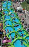China The City Slide Inflatable Water Slide , Pvc Giant Inflatable Water Slide For Adult wholesale