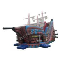 Outdoor Pirate Ship Inflatable Bouncer / Inflatable Pirate Ship Slide