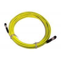 MPO / MTP 8/12/24 cores UPC/APC/OM3 Yellow/Aqua Fiber Optic Patch Cord