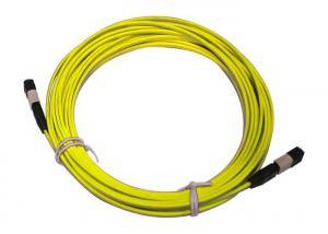 China MPO / MTP 8/12/24 cores UPC/APC/OM3 Yellow/Aqua Fiber Optic Patch Cord on sale