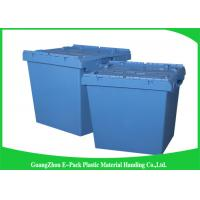Nesting Logistic Heavy Duty Storage Boxes , Plastic Storage Bins With Hinged Lids