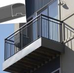Outdoor Aluminum Hand Railings For stairs , exterior hand railings