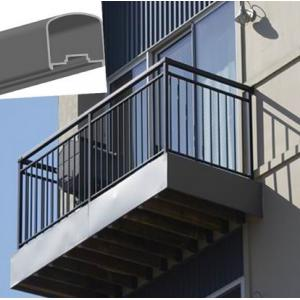 China Outdoor Aluminum Hand Railings For stairs , exterior hand railings on sale