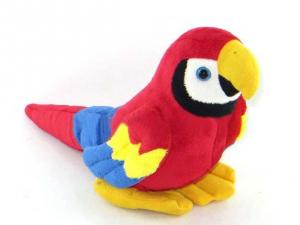 China Red Forest Parrot Stuffed Animal Toys Children Soft Plush Toy on sale