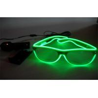 China Neon Transparent Green Lighting El Wire Sunglasses / LED Light Up Sunglasses on sale