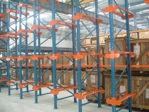 China Dairy industry Single bracket drive in rack with stock movement , 10M on sale