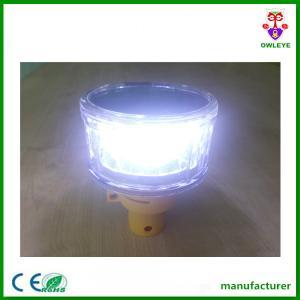 China White LED Flashing Solar Warning Beacon Supplier China on sale