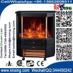 移動式電気暖炉のヒーターの丸太の炎の効果のローマの柱EF332Sは赤外線水晶暖房部屋/屋内ヒーターを動かします