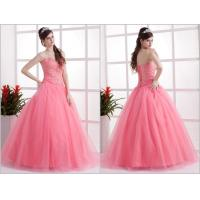 Romantic Pink Princess Quinceanera Dresses Beaded Sequins for Girls