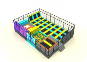 China Primary School Kids Trampoline Park Galvanized Steel Pipe And Nylon Mesh Material on sale