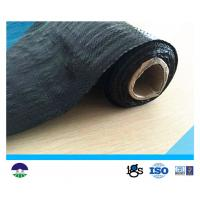 China Black Acids Resistant Woven Geotextile Fabric / Polypropylene Black Woven Stabilization Fabric on sale