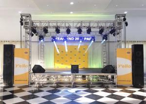 China Indoor Small Concert Stage Truss , Aluminum Truss Stage Light Frame SGS Approved on sale