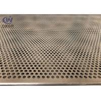 China Mild Steel 5mm Hole 2mm Pitch Perforated Metal Cladding Panels With Galvanized Coated on sale