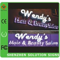 China 3d outdoor led light wall letter sign on sale