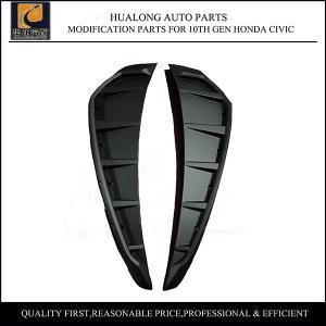 China Side Fender Vent Cover for 10th Gen Honda Civic Plastic Black on sale
