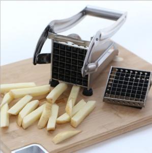 China S/S Potato Chipper Cutting Machine/ Vegetable Slicer Cutter/Cassava Stick Slicing Cutting machine on sale