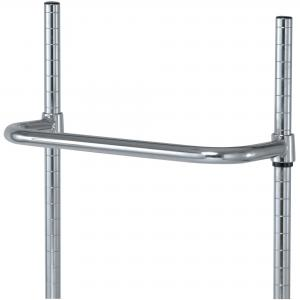 China Wire Shelving Accessories Chrome - Plated Steel Utility Push Cart Handles on sale