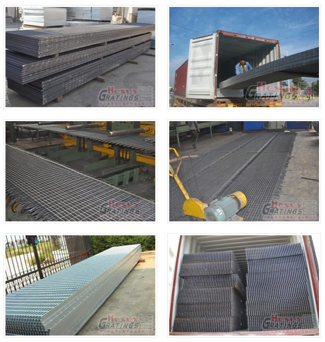 welded steel grating platform