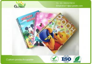 China 3D Printing Cover Spiral Bound Notebook , Coated Paper Single Subject Spiral Notebook on sale