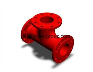 China Flange Branch Ductile Iron Pipe Fittings on sale