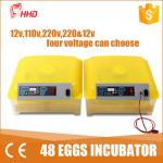 China 1 Year warranty CE passes Automatic egg turning  48 chicken egg 24 turkey mini egg incubator   for sale YZ8-48 wholesale